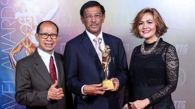 Kementerian Pariwisata (Kemenpar) secara resmi menerima penghargaan kategori The Best Ministry of Tourism.