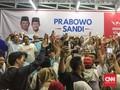 Pendukung Prabowo Bersorak Dapat Nomor 2 di Pilpres 2019