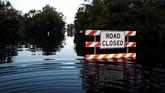 Sepekan setelah Badai Florence menyapu Amerika Serikat, sebagian wilayah di pesisir negara itu masih tergenang air.