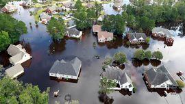 FOTO: Sisa Sapuan Badai Florence di Amerika Serikat