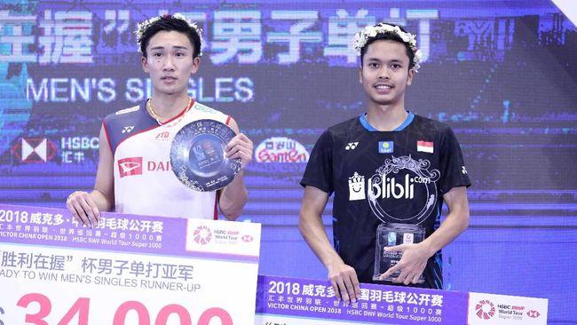 Dengan menjadi juara China Terbuka 2018, Anthony Ginting menjadi pebulutangkis tunggal putra pertama sejak Alan Budikusuma pada 1994 yang sukses meraih gelar.