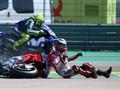 FOTO: Detik-detik Insiden Lorenzo vs Marquez di MotoGP Aragon