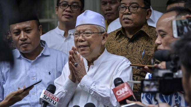Cawapres Ma'ruf Amin dijadwalkan akan mengunjungi Kota Palangkaraya, Kalimantan Tengah (23/10) pagi ini untuk mengikuti gelaran Hari Santri.
