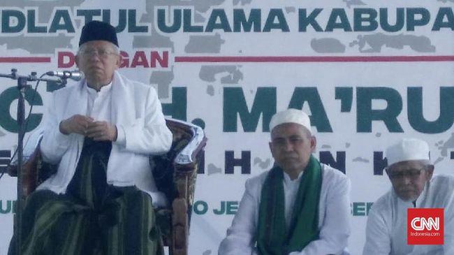 Wakil Ketua TKN Jokowi-Ma'ruf Amin, Johnny G. Plate menyebut kunjungan Ma'ruf ke pesantren sebagai kegiatan silaturahmi yang biasa dilakukan selama ini.