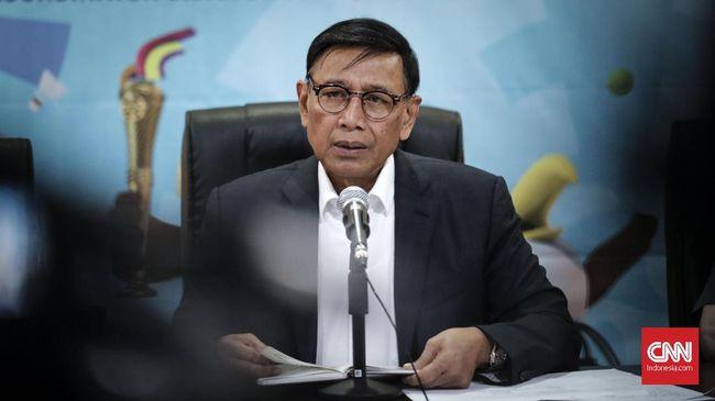 Menko Polhukam Wiranto mengingatkan ada ancaman pidana orang yang mengajak golput pada Pemilu 2019