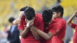 Skuat Timnas Indonesia U-16 Menangis di Ruang Ganti