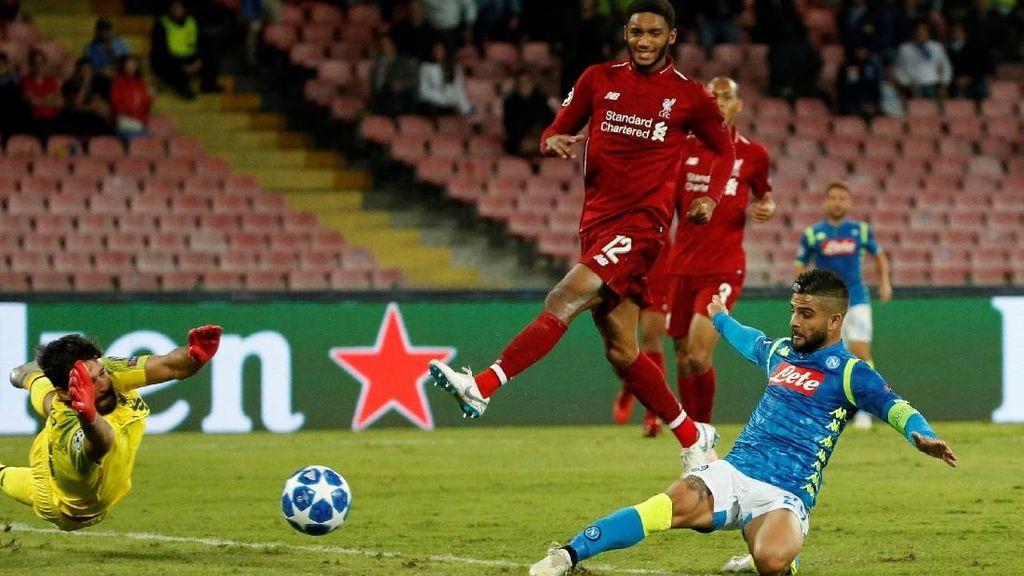 Hasil Liga Champions: Gol di Menit ke-90 Menangkan Napoli atas Liverpool