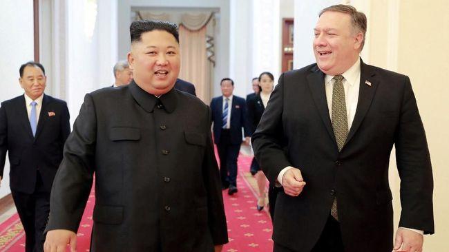 Pemimpin Korut Kim Jong Un mengklaim pertemuannya dengan Menlu AS Mike Pompeo pada Minggu kemarin berlangsung produktif dan baik.