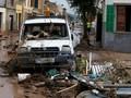 FOTO: Banjir Sapu Spanyol, Mobil Hanyut, 10 Tewas