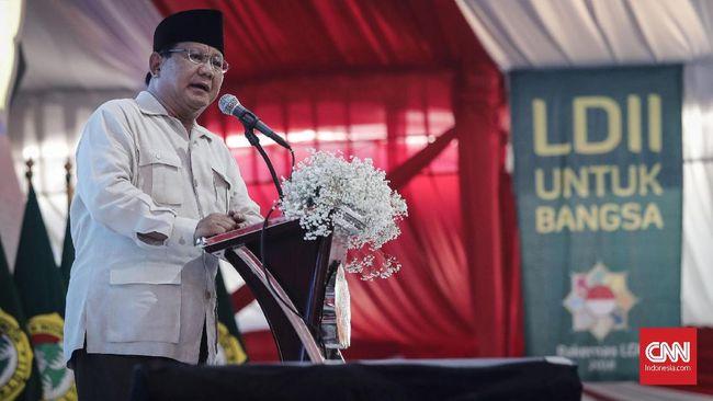 Capres Prabowo Subianto mengaku tidak pernah meminta dukungan ketika berkunjung ke pondok pesantren, namun ia tak menyangkal jika berharap ada dukungan.