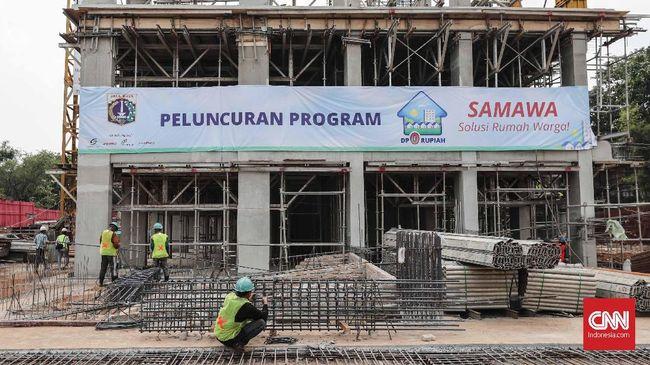 Gubernur DKI Jakarta Anies Baswedan meluncurkan program rumah DP nol rupiah 'SAMAWA' atau Solusi Rumah Warga di Pondok Kelapa, Jaktim.