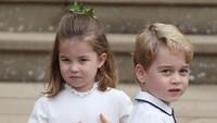 <p>Mereka makin menggemaskan dengan gaun dan kemeja bernuansa putih. (Foto: Steve Parsons - WPA Pool/Getty Images)</p>