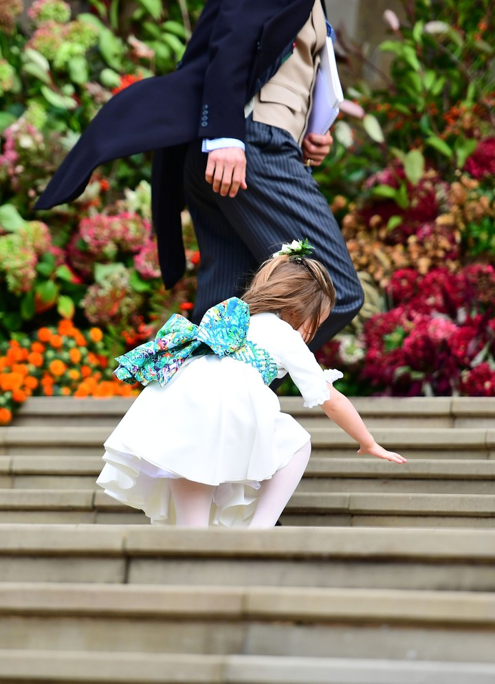 <p>Putri Charlotte hebat deh, biar jatuh tapi nggak nangis. (Foto: Victoria Jones - WPA Pool/Getty Images)</p>