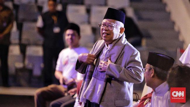 Sembari mengungkapkan kegelisahan soal radikalisme di Indonesia, calon wapres nomor urut 02 Ma'ruf Amin berkelakar soal ISIS yang membuat ibu-ibu kompak.
