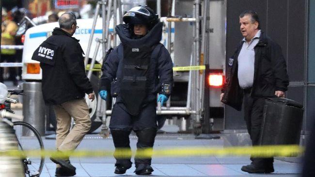 Kantor CNN di New York, Amerika Serikat, dievakuasi lantaran kembali menerima ancaman bom pada Kamis (6/12).