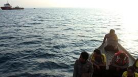 FOTO: Pelakon Misi Pencarian Lion Air JT-610 di Laut Karawang