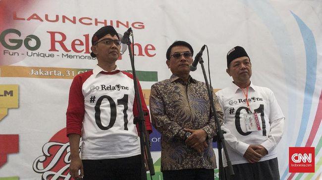 Wakil Ketua TKN Jokowi-Ma'ruf Amin, Moeldoko meminta relawan untuk menyebarkan hoaks dalam kampanye Pilpres. Lebih baik mereka sebarkan kabar gembira.