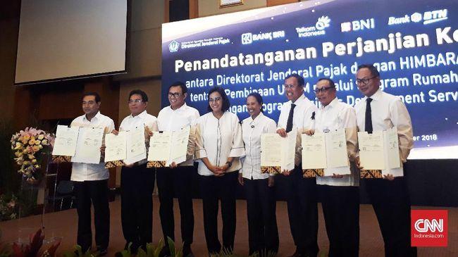 Kementerian Keuangan bekerja sama dengan sejumlah perbankan BUMN melalui Direktorat Jenderal Pajak terkait pembinaan Usaha Mikro, Kecil, dan Menengah (UMKM).