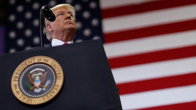 Presiden AS Donald Trump mengklaim militernya telah mengalahkan ISIS di Suriah sehingga tak ada lagi alasan untuk mempertahankan pasukan di sana.