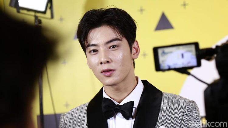 Cha Eun Woo saat ditemui di kawasan Kebon Jeruk.