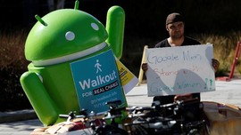 FOTO: Walkout Pegawai Google Tuntut Keadilan pada Perusahaan