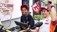 Tawa Marc Marquez Bertemu Bocah Komentator Motogp Dari Indonesia
