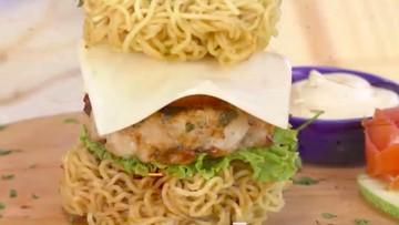 Resep Burger Mi, Bentuk Seru Rasa Unik