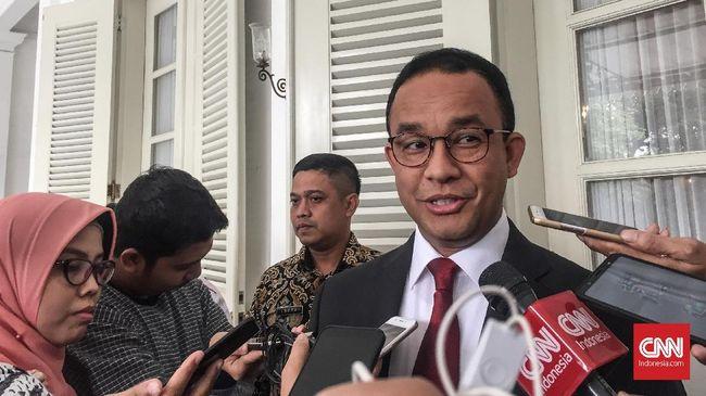 Gubernur DKI Anies Baswedan menyatakan dirinya atau pemprov tak berhak melarang siapapun datang ke ibu kota menyampaikan aspirasinya, termasuk Aksi 22 Mei.