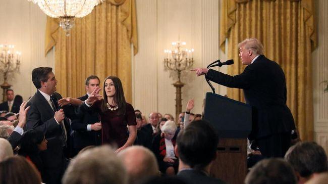Gedung Putih memastikan Presiden AS memiliki hak untuk menolak wartawan atau menghentikan konfrensi pers tanpa adanya konsekuensi hukum.