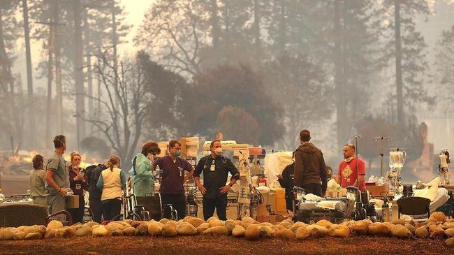 Jumlah orang yang dilaporkan hilang setelah kebakaran hutan dan lahan di California, Amerika Serikat, menembus angka 631.