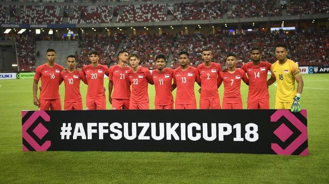 Gol gelandang Singapura Hariss Harun ke gawang Andritany Ardhyasa menjadi salah satu nomine gol terbaik pada pekan pertama Piala AFF 2018.