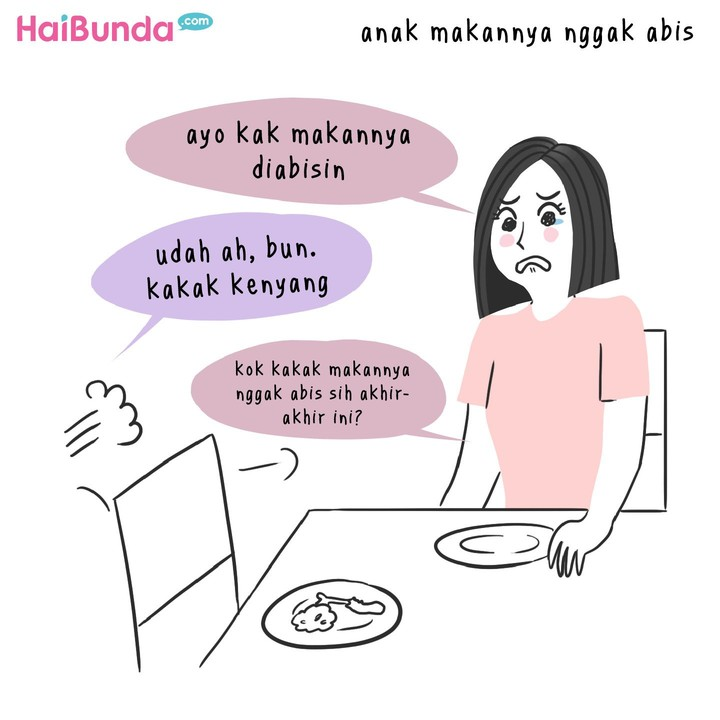 Beberapa hal bisa bikin bunda di komik ini sedih. Untuk Bunda, hal-hal apa sih yang biasanya bikin sedih? Share yuk di kolom komentar.