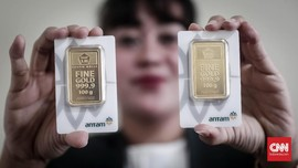Harga Emas Antam Turun ke Rp909 Ribu per Gram
