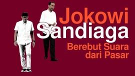 INFOGRAFIS: Jokowi dan Sandiaga Berebut Suara dari Pasar