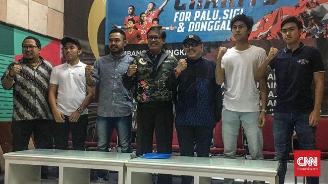 Legenda Timnas Indonesia akan menggelar pertandingan laga amal untuk menghibur masyarakat Palu, Sigi dan Donggala terkena musibah bencana gempa serta tsunami.
