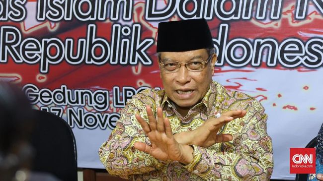 Ketua Umum PBNU Said Aqil Siradj tidak sepakat dengan sikap PSI yang menolak Perda Syariah, di Kantor LPOI, Sabtu (17/11)