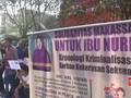 VIDEO: Aksi Soladaritas Bela Baiq Nuril di Makassar