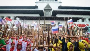 Angklung's Day di Bandung Pecahkan Rekor Dunia Grup Terbanyak