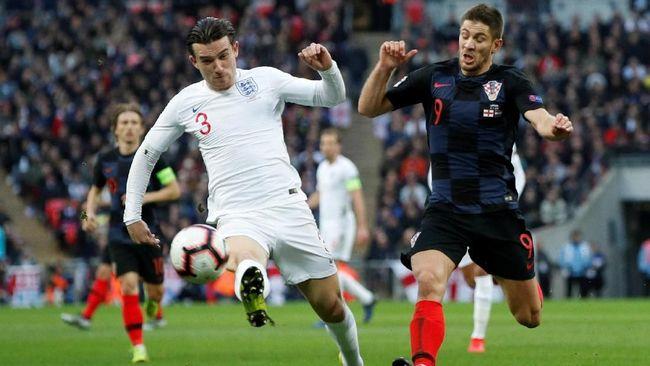 Timnas Inggris meraih kemenangan 2-1 atas timnas Kroasia pada laga terakhir fase grup UEFA Nations League di Stadion Wembley, Minggu (18/11).