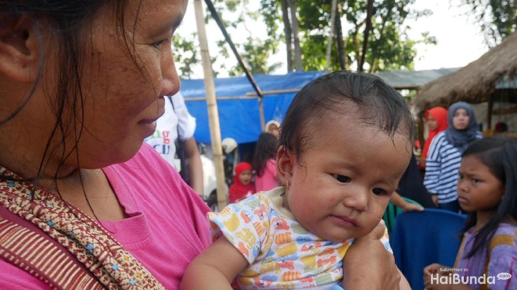 Ibu ini menamai anaknya 'Gempita', setelah peristiwa gempa Lombok terjadi.