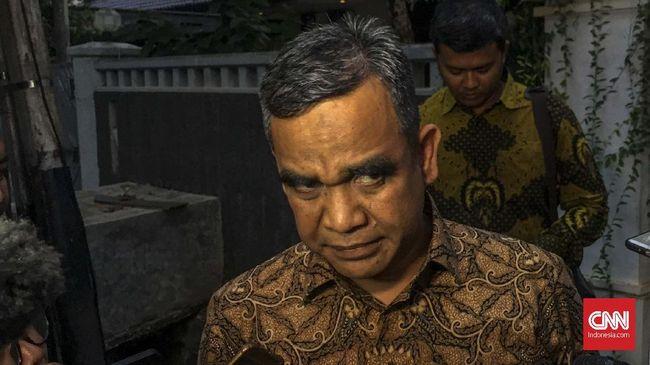 Ahmad Muzani menemui Ketua Umum PBNU Said Aqil Siroj sebelum pemilihan Ketua MPR. Muzani bersaing dengan politikus Golkar Bambang Soesatyo.
