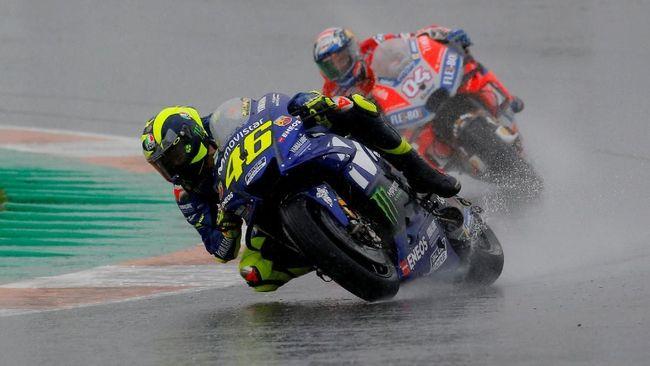 Valentino Rossi cukup percaya diri bisa menjadi juara MotoGP Valencia 2018 jika tidak ada bendera merah yang menghentikan lomba di lap ke-15.