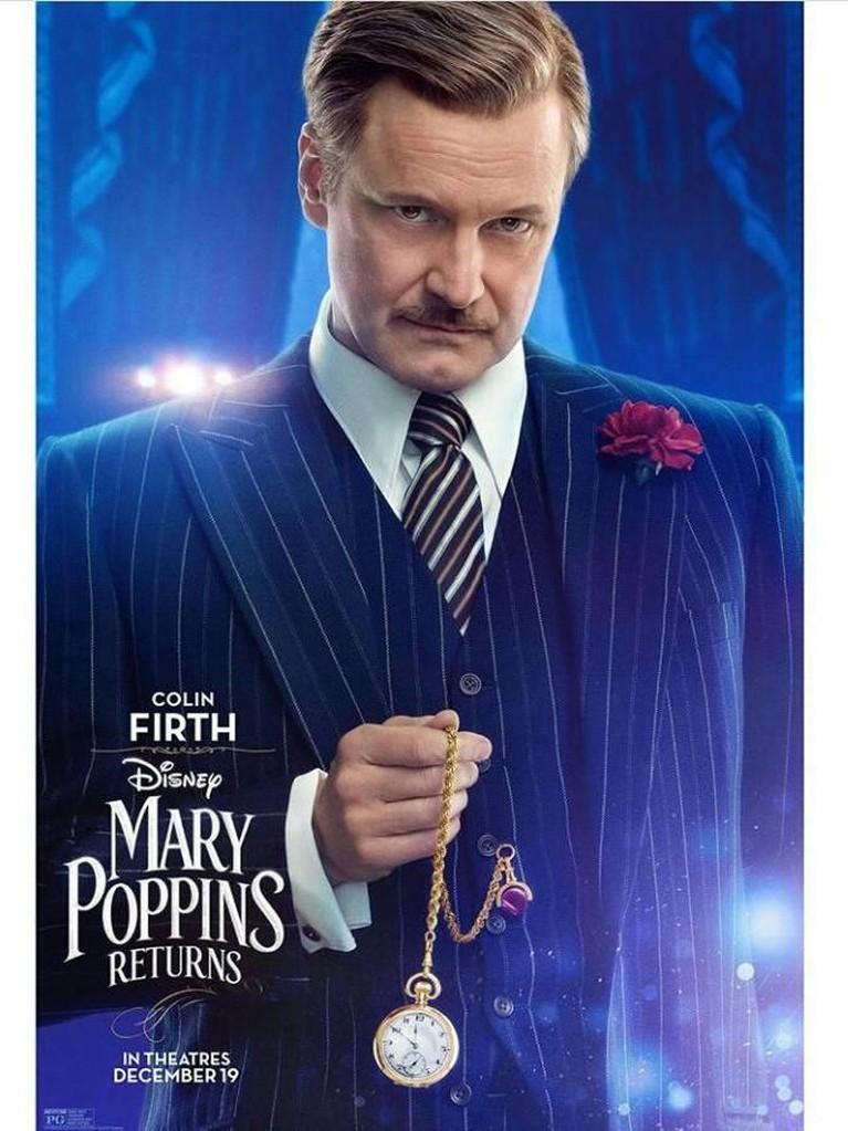 William Weatherall Wilkins (Colin Firth). Aktor asal Inggris ini akan berperan sebagai presiden dari Fidelity Fiduciary Bank. Nama bank tersebut juga menjadi judul salah satu soundtrack Mary Poppins Returns.