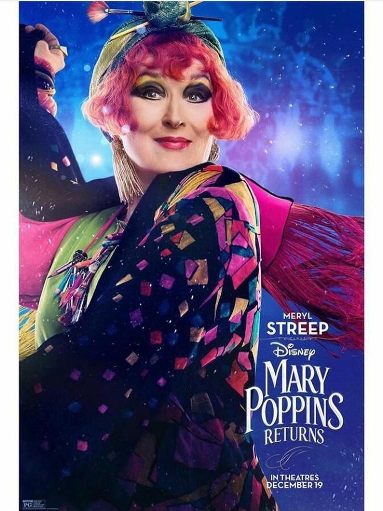 Topsy (Meryl Streep). Topsy adalah sepupu Mary yang hidup di dunia yang terbalik. Dalam film, Mary dan ketiga anak asuhnya akan datang mengunjungi Topsy ke dunia yang aneh tersebut.