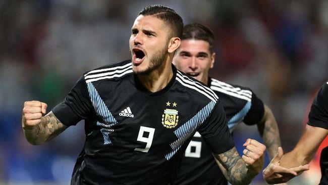 Striker Inter Milan, Mauro Icardi, mencetak gol perdana untuk timnas Argentina dan merasa puas masa penantiannya berakhir.
