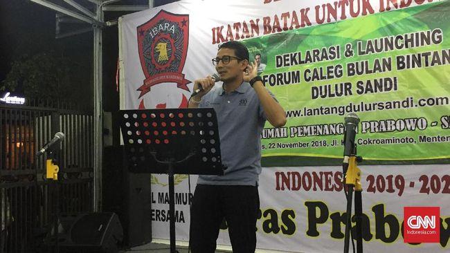 Calon Wakil Presiden Sandiaga Uno mengatakan Kementerian Khusus Bencana yang akan dibentuk pemerintahannya jika terpilih juga akan mengurusi masalah kebakaran.