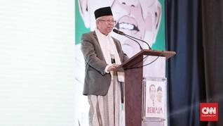 Ma'ruf Tak Khawatir DNI Turunkan Elektabilitas Jokowi