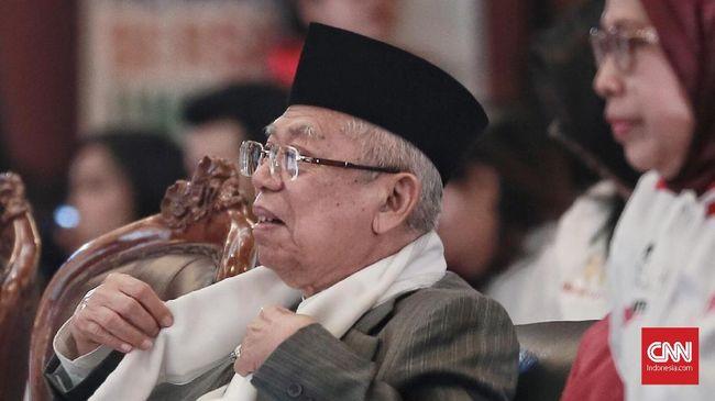 Ma'ruf menepis tudingan Prabowo Subianto yang menyebut ada sejumlah elite diancam pihak tertentu jika mendukungnya dalam kontestasi Pilpres 2019.