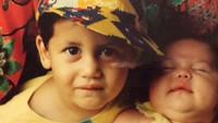 <p>Menggemaskan sekali wajah Keenan dan Pevita ketika kecil ya. (Foto: Instagram @keenanpearce)</p>