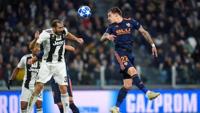 Juventus ditahan imbang Valencia dalam lanjutan pertandingan Grup H Liga Champions di Stadion Allianz, Rabu (28/11) dini hari.